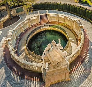 Kachelbild Donauquelle