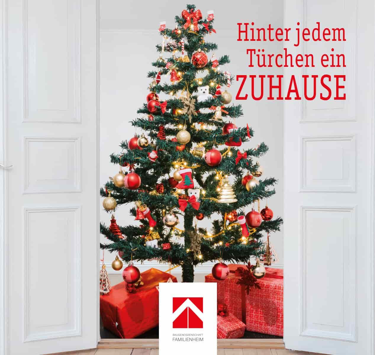Weihnachtsbaum Familienheim