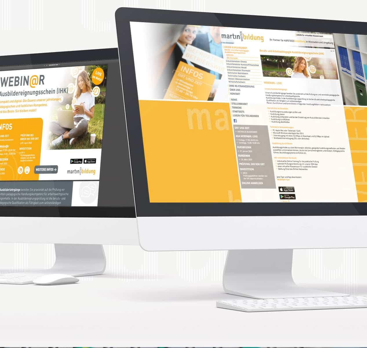 Internetseite von Martin Weiterbildung